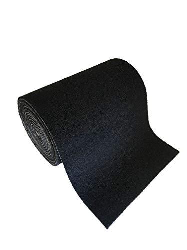 16oz 15 – 12″ Wide Trailer Bunk Carpet- Black