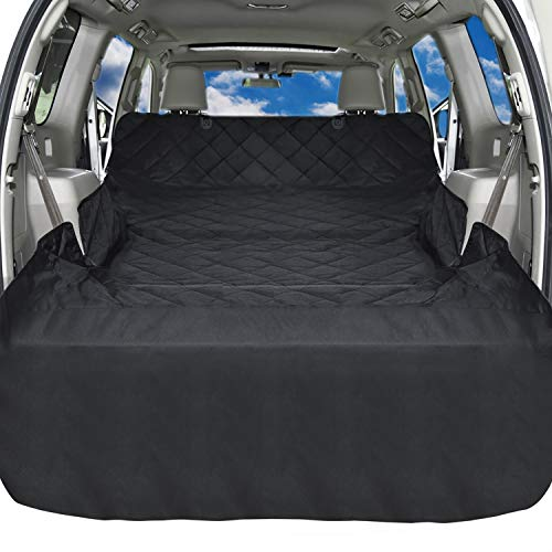 iSPECLE SUV Cargo Liner for Dogs, Non Slip Pet Car Seat Cover with Anchors for Stable Fit – Waterproof Cargo Liner Cover for SUVs and Cars Universal Fit for All Cars, Sedan, Wagon & Mini Van, Black