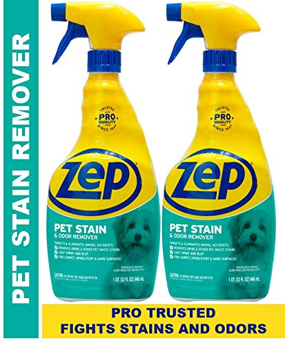 Zep Pet Stain and Odor Remover 32 Ounce ZUPETODR32 Pack of 2