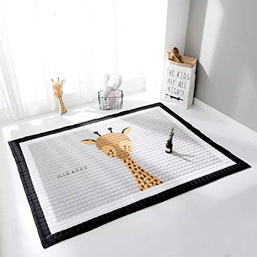 YOHA Baby Girls Play Mat Crawling Mat Rug Cartoon Kids Boys Playing Blanket Carpet Non-Slip Nursery Rugs Décor,Giraffe