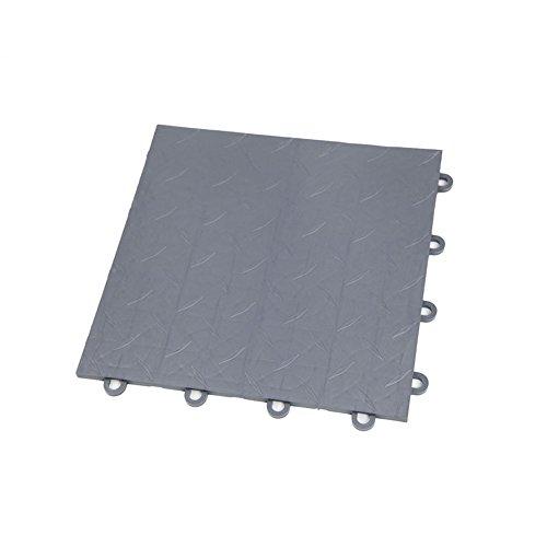 52-12″x12″ Tiles – IncStores Diamond Nitro Garage Tiles 12″x12″ Interlocking Garage Flooring Graphite