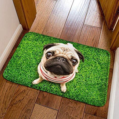 IEnkidu Modern Cute 3D Animal Print Square Shape Non-Slip Home Mat Bathroom Entry Rugs Carpet Mat Puzzle Play Mats