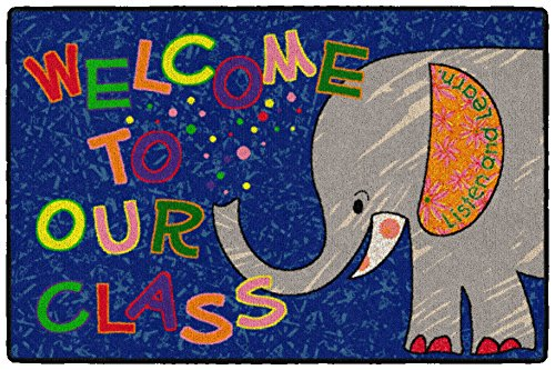 Flagship Carpets CE146-14W Welcome Mat – Class Elephant, Multi