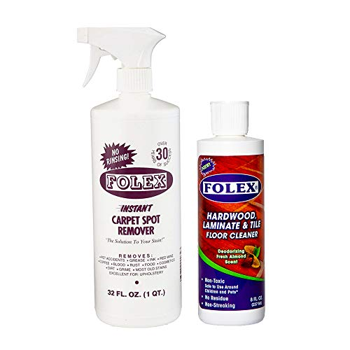 Folex Spot Remover 32oz bundle with Deodorizing Wood Floor Cleaner 8oz