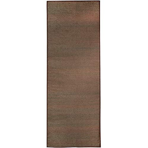 RUGGABLE Washable Stain Resistant Indoor/Outdoor, Kids, Pets, and Dog Friendly Runner Rug 2.5'x7′ Solid Textured Espresso