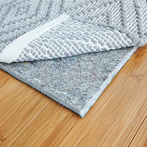 RUGPADUSA, 5'x8′, 1/4″ Thick, Basics Felt + Rubber Rug Pad, Non-Slip Rug Pad, Adds Cushion and Floor Protection Under Rugs, Safe for all Floors and Finishes