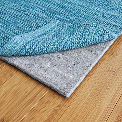RUGPADUSA, 5'x8′, 1/8″ Thick, Basics Felt + Rubber Rug Pad, Non-Slip Rug Pad, Adds Cushion and Floor Protection Under Rugs, Safe for all Floors and Finishes