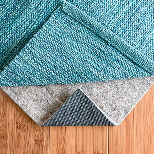 "RUGPADUSA, 8′ x 10′, 1/4"" Thick, Basics Felt + Rubber Non Slip Rug Pad, Softens Rugs and Prevents Slipping, Won't Mark or Stain Floor Finishes"