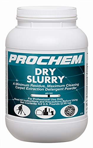 Prochem Dry Slurry Professional Carpet Cleaning Concentrate Powder, Maximum Cleaning, Minimum Residue, Truckmount or Portable Extraction 6 lb Jar, 4 Pk