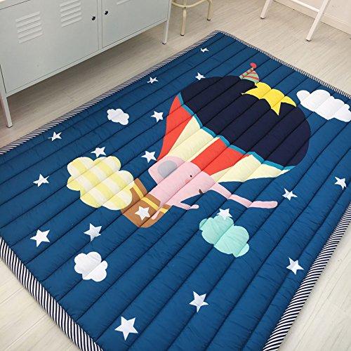 IHEARTYOU Kids Travelling Theme Teepee Mat Children Antiskid Play Mat Baby Crawling Mat Non-slip thicken Carpet
