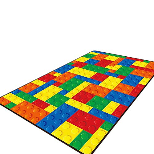 USTIDE 5'x7′ Colorful Puzzle Educational Kids Rug Activity Children Playroom Classroom Area Rug