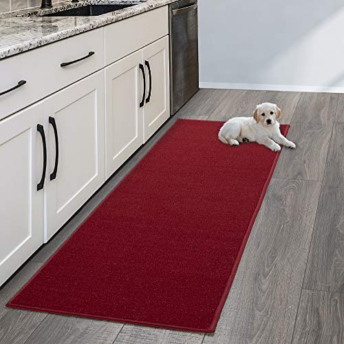 Sweet Home Stores SH8400-20X59 Rug, 20″ x 59″, Red