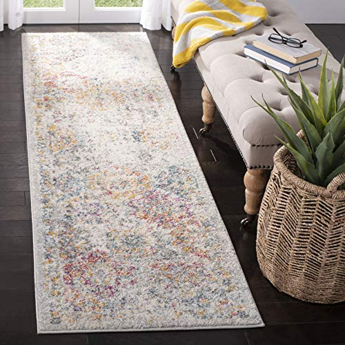 Safavieh MAD611F-26 Madison Collection MAD611F Grey and Gold 2'3″ x 6′ Runner,