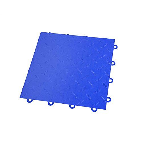 IncStores Diamond Nitro Garage Tiles 12″x12″ Interlocking Garage Flooring Blue – 52-12″x12″ Tiles