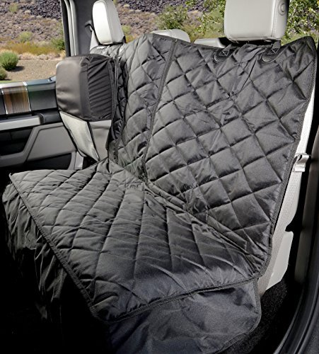 Heavy Duty – Waterproof Version 1, Black – 4Knines Crew Cab Rear Bench Seat Cover with Hammock