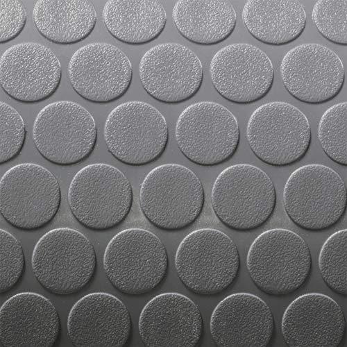 RecPro Trailer Coin Flooring | Gray | 8′ 6″ Wide | Nickel Pattern RV Flooring | Gym Flooring | Garage Flooring 20ft