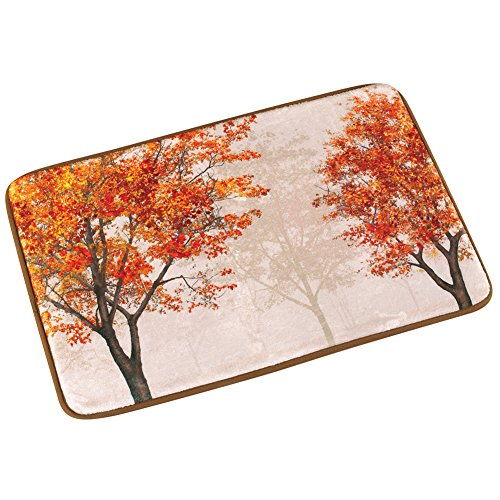Collections Etc Colorful Autumn Tree Bath Mat