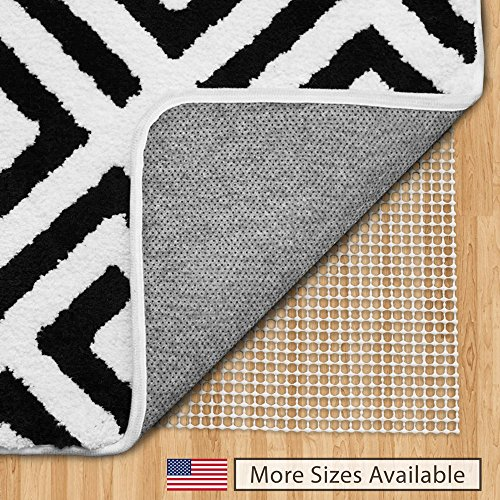 Gorilla Grip Original Area Rug Gripper Pad, 2×3, Made in USA, for Hard Floors, Pads Available in Many Sizes, Provides Protection and Cushion for Area Rugs and Floors