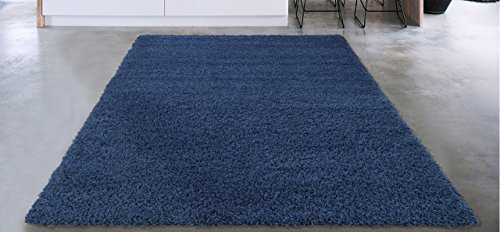 Sweet Home Stores COZY2866-5X7 Area Rug, 5'3″ x 7′, Navy Blue