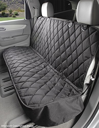 Dog Seat Cover Without Hammock for Cars, SUVs, and Small Trucks – Heavy Duty, Non Slip, Waterproof Black