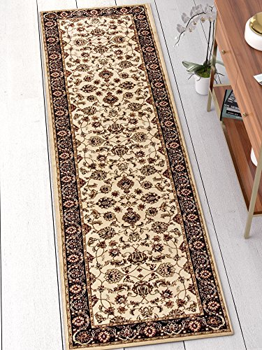 "Well Woven Barclay Sarouk Ivory Traditional Area Rug 2'7"" X 9'6"" Runner"