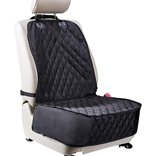Dog Car Seat Cover for Front Seats. Scratch Proof Waterproof Car Seat Cover for Dogs. Fits Most Trucks, Vans, and SUVs Black