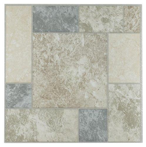 Achim Imports FTVGM32745 Tivoli Marble Blocks 12×12 Self Adhesive Vinyl Floor Tile-45 Tiles/45 Sq. Ft, Piece, 45