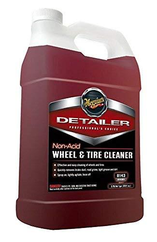 MEGUIAR'S D14301 Non Acid Tire & Wheel Cleaner, 1 Gallon, 128. Fluid_Ounces
