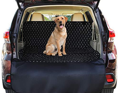 SUV Cargo Liner Cover For SUVs and Cars, Waterproof Material , Non Slip Backing, Extra Bumper Flap Protector, Large Size – Universal Fit