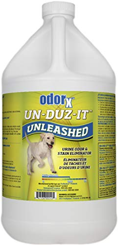 ODORx Un-Duz-It Unleashed Pet Urine Odor and Stain Eliminator, Highly Effective One-Step Commercial Formula, Enzyme Action, 1.Gal, 4 PK