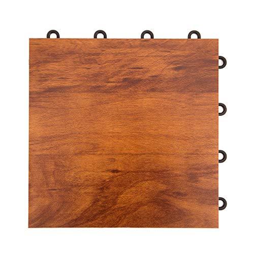 IncStores 12″ x 12″ Practice Dance Tiles Dark Maple, 9-12″x12″ Tiles