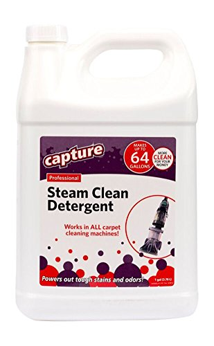Make 64 Gallons – Capture Professional Steam Cleaner Carpet Detergent for All Cleaning Equipment Resolve Stain Smells Odor -1 Gallon Concentrate