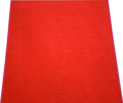 Dean Red Carpet Runner – Indoor/Outdoor Wedding Aisle Boat Event Party Rug 3′ x 6′