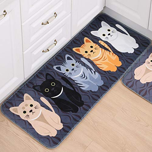 Dongba Practical Print Rectangle Shape Water Absorption Non-Slip Home Mat Bathroom Mat Puzzle Play Mats