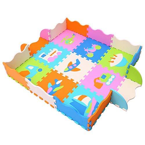 MQIAOHAM Soft Puzzle Play Mats – Activity Puzzle Playmats – Floor Protection – EVA Foam Rubber Mat P028B3010 – Interlocking Foam Mat for Children