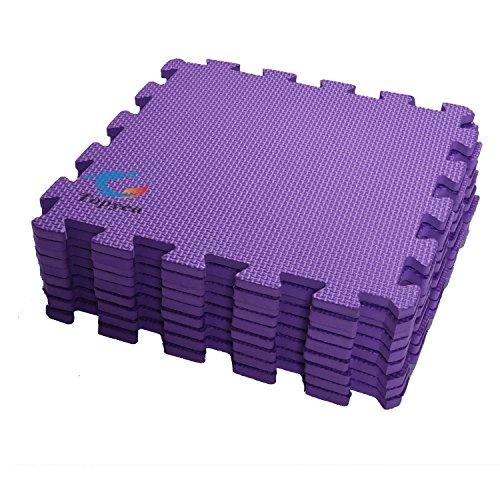 EVA Foam Puzzle Mat,Foam Mats,EVA Foam Interlocking Floor Mats,9 Titles Exercise Mat,12″ by 12″