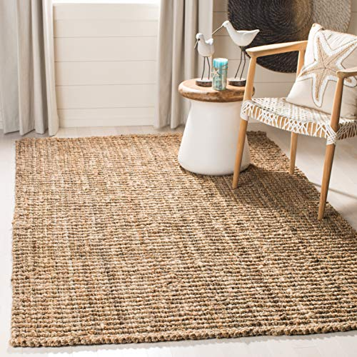 Safavieh Natural Fiber Collection NF447A Hand-Woven Natural Reversible Jute Area Rug 2′ x 3′