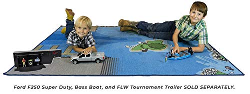 Fishing Play Set Accessory – Lake Design for Fishing Fun – Big Country Toys Jumbo Fishing Play Mat – Measures 58″ x 79″