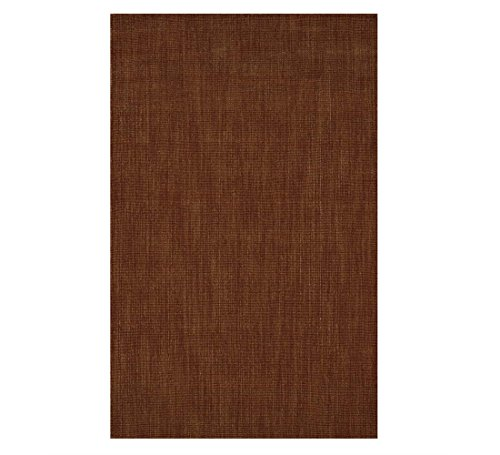Wool Blend Dalton Rectangular Rug Low Profile Fire Resistant for Fireplace and Home 24 x 42 Spice