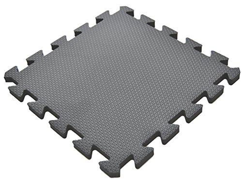Waterproof Eva Foam Tiles, Baby Mat for Crawling – EWONDERWORLD 36-Piece 12″ Black Premium Thick Non-Toxic Kids & Toddlers Interlocking Floor Puzzle Foam Play Mat