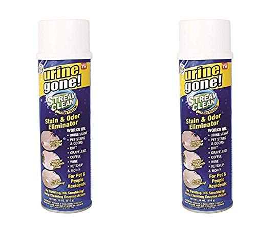 Stream Clean Carpet Stain and Odor Eliminator: Professional Strength, Deep Cleaning Enzyme Action, Destroys through Oxidation Catalysis, No Scrubbing Needed 2 PACK