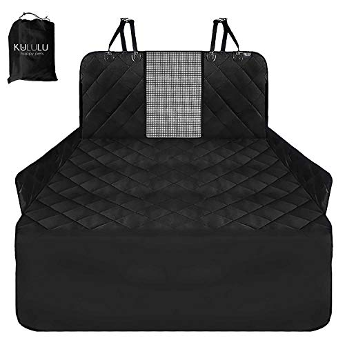 Kululu Patended Cargo Liner with Mesh Window for Cars and SUVs. Waterproof Material, Non Slip Backing, Extra Bumper Flap Protector, Large Size 55″X93″ – Universal Fit
