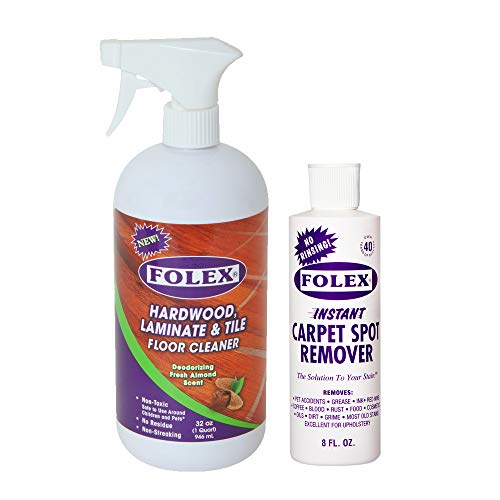 Folex Spot Remover 8oz bundle with Deodorizing Wood Floor Cleaner 32oz