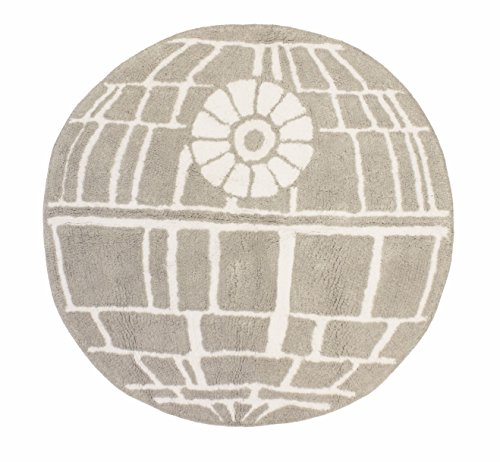 Jay Franco Wars Classic Death Star Cotton Tufted Bath Rug, Gray