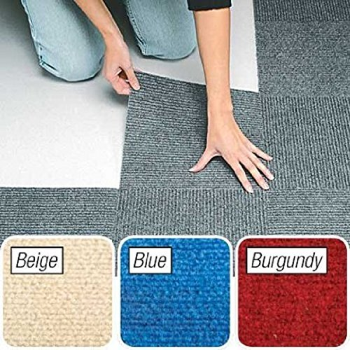 Berber Carpet Tiles Set of 10 Blue By Jumbl