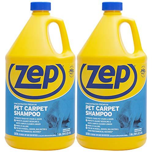 Zep Premium Pet Carpet Shampoo 128 ounce Pack of 2