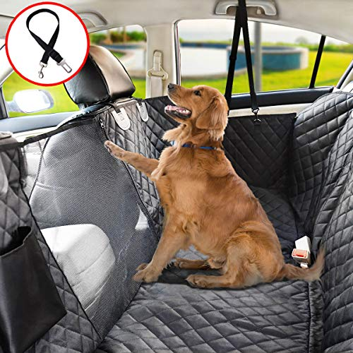 X Large – Vailge Dog Seat Cover for Back Seat, 100% Waterproof Dog Car Seat Covers with Mesh Window, Scratch Proof Nonslip Dog Car Hammock, Car Seat Covers for Dogs, Dog Backseat Cover for Trucks SUV