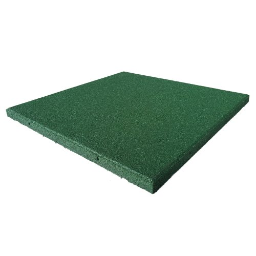 Rubber-Cal Eco-Sport Interlocking Tile-Pack of 5, Green, 3/4 x 20 x 20-Inch