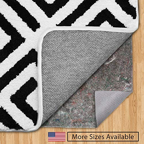 GORILLA GRIP Original Felt and Rubber Underside Gripper Area Rug Pad .25 Inch Thick, 5×8 FT, Made in USA, for Hardwood and Hard Floor, Plush Cushion Support Pads for Under Carpet Rugs, Protects Floors