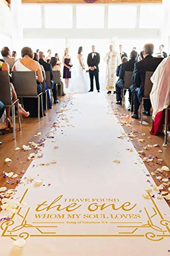 Healon Wedding Decor Aisle Runners for Weddings Outdoor Accessories Runner Rug 100 x 3 ft Golden